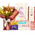 PEMBE14-min — Unicorn Temalı Çiçek Kutusu