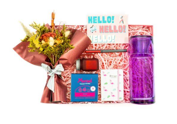 PEMBE15-min — Flamingo Temalı Çiçek Kutusu